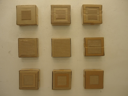 The First Nine cardboard Canvases
