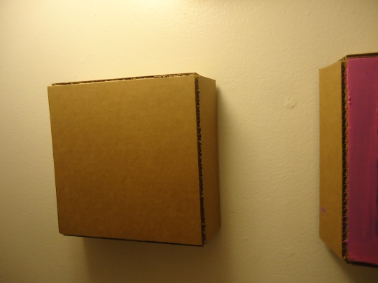 Crooked sides visible on both canvases